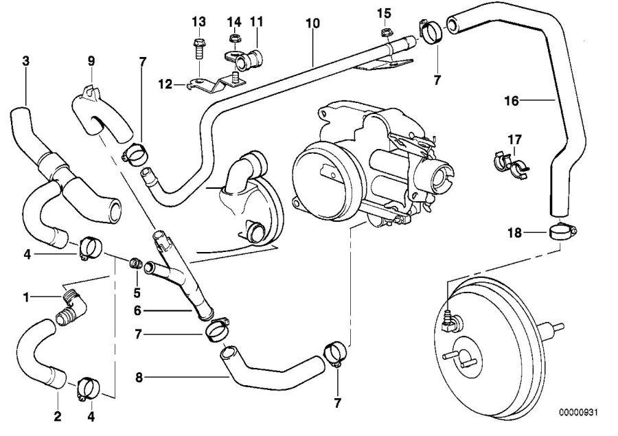bmw 740i hose  vacuum  engine  control