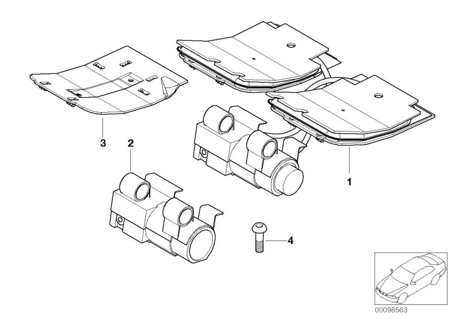 parts diagram 2006 bmw m5 front