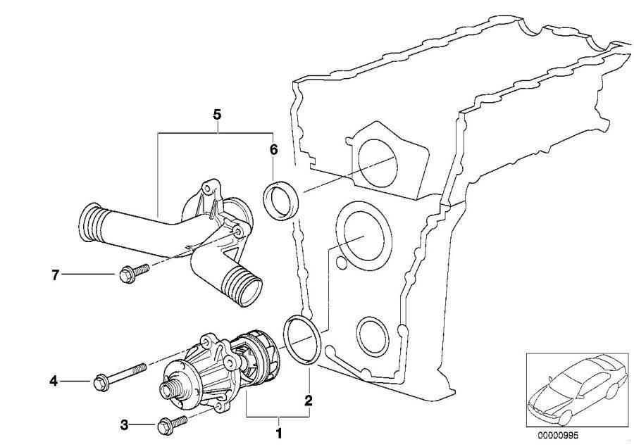 bmw 318is coolant pump  mechanical  engine