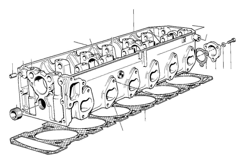 1988 Bmw 735i Cylinder Head  Engine