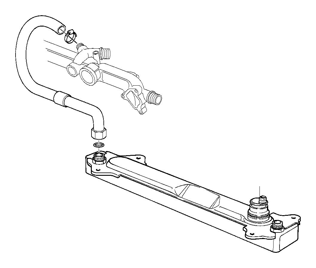 Bmw 740il Hose Return  Cooling  Engine  Hoses