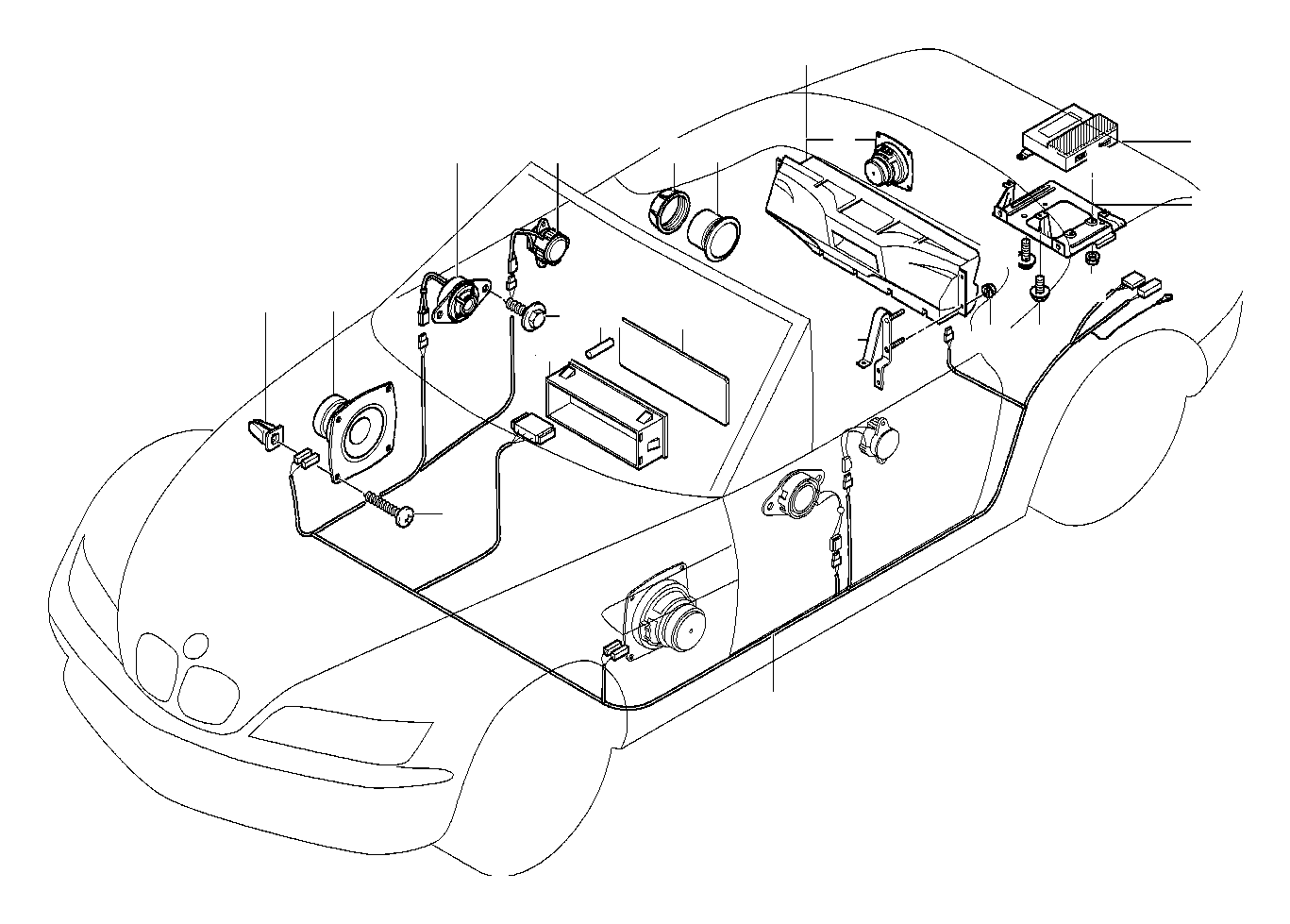 bmw z3 subwoofer box  system  single