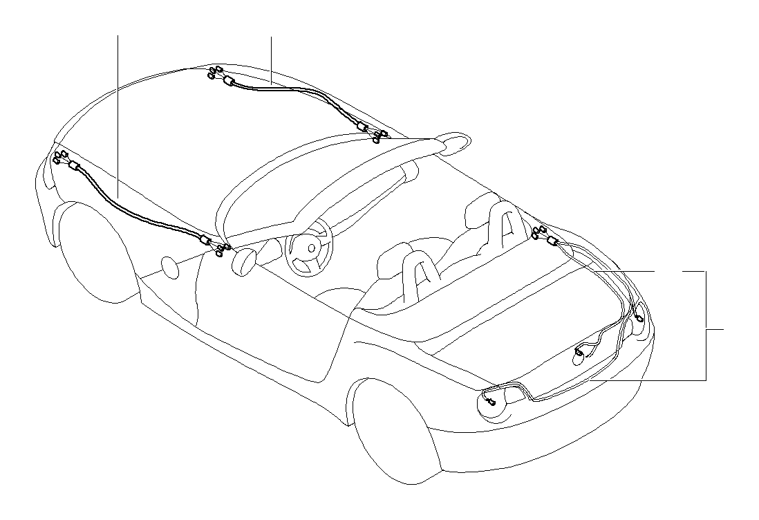 2008 bmw z4 front left repair wiring set  cable