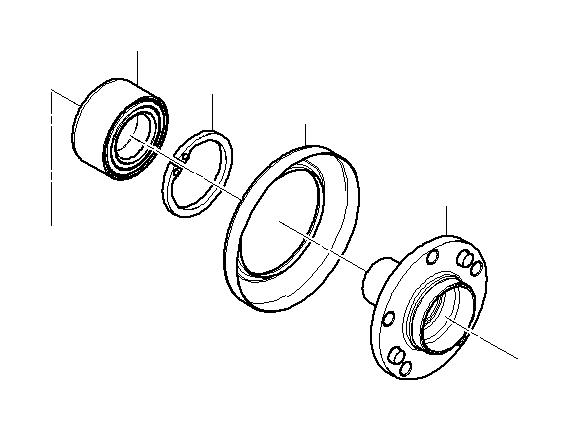 bmw 330xi lock ring  90x3  suspension  wheel  bearing