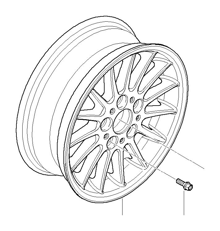 bmw 323i light alloy rim  8jx17 et 34  wheels  wheel