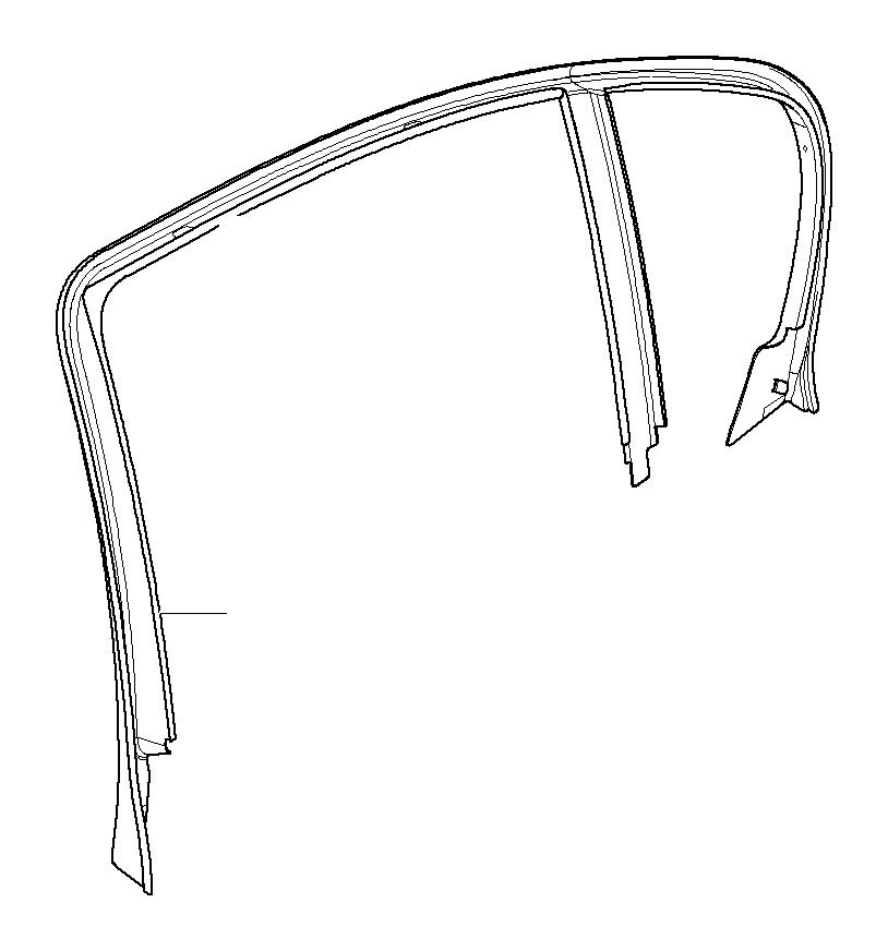 Bmw 325i Cover  Window Frame  Door Rear Left  Trim  Body