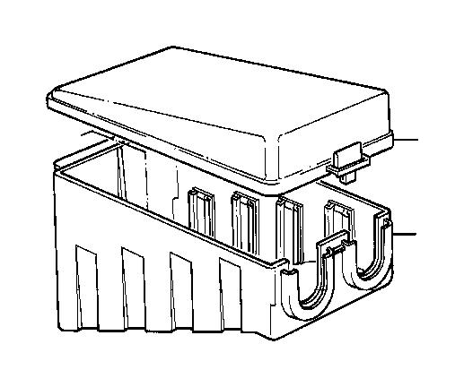 bmw 750il relay box upper part  control  unit