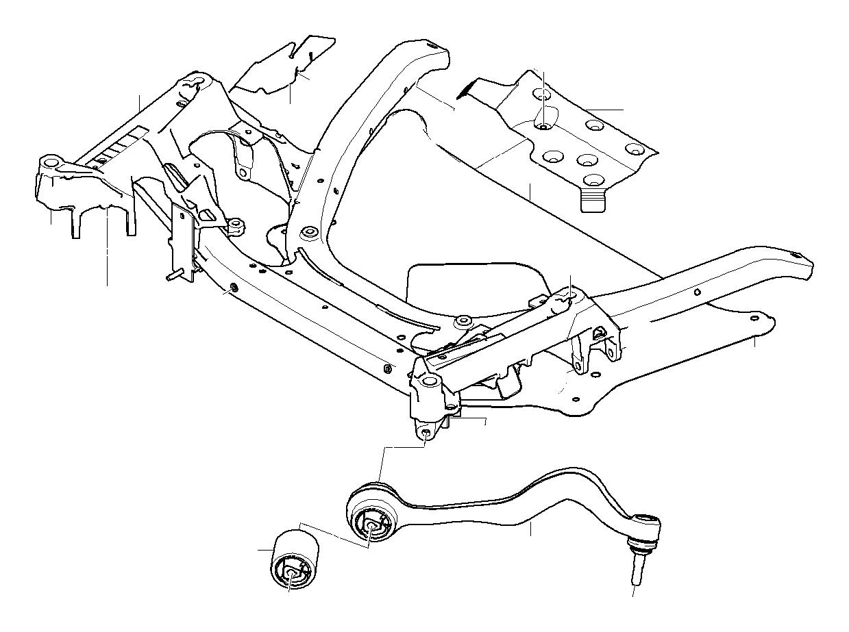 bmw m5 repair set for radius rod  right  value line  axle