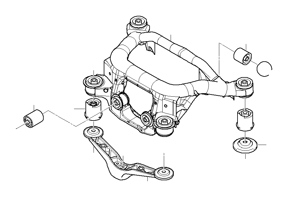 33316770781 Bmw Rubber Mounting Rear Axle Suspension