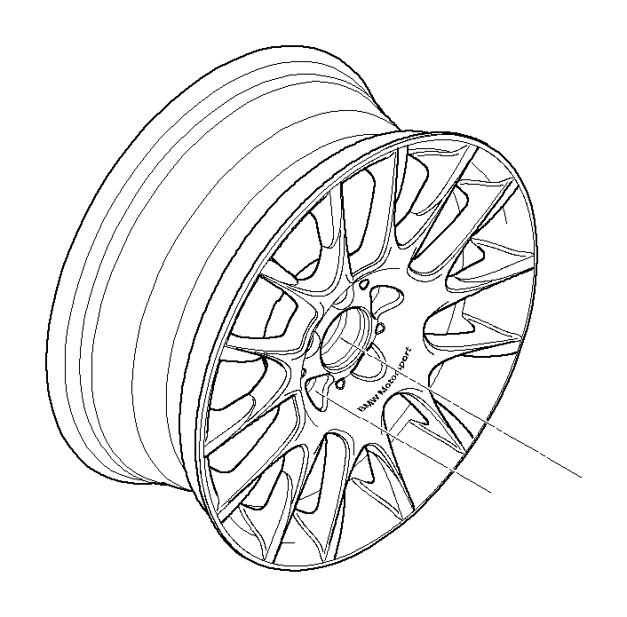 bmw 335is light alloy rim  8jx18 et 34  wheels  wheel