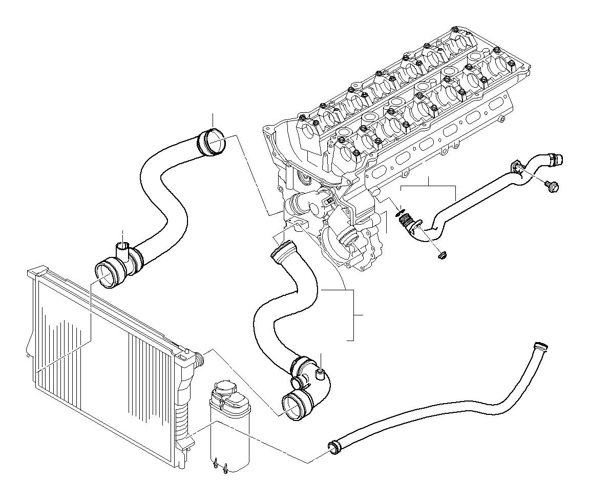 2004 Bmw 325i Return Hose  Cooling  Hoses  Engine