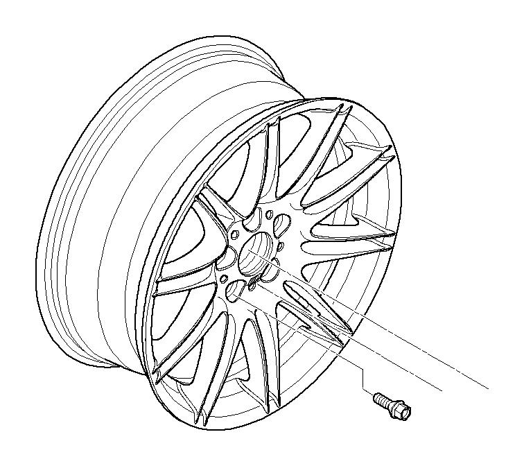 bmw 335is light alloy rim  8jx19 et 37  wheels  wheel