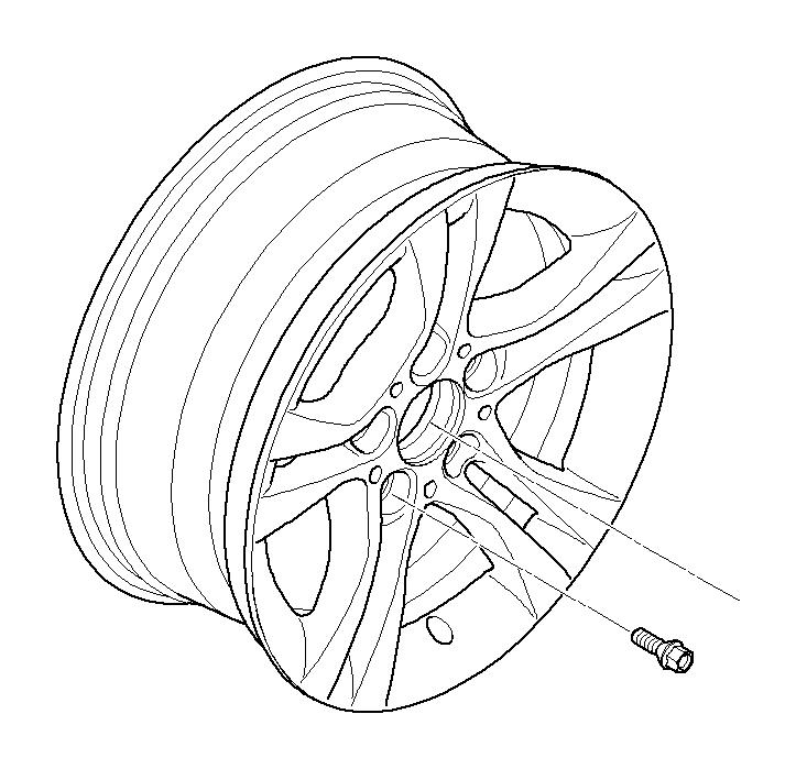 bmw 323i light alloy rim  7jx16 et 31  wheels  wheel