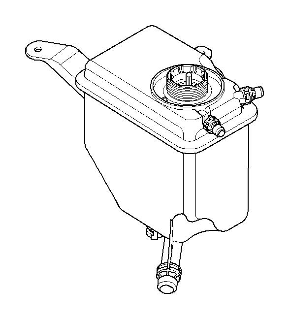 bmw 650i cooling water expansion tank  tanks  radiator  maintenance  engine