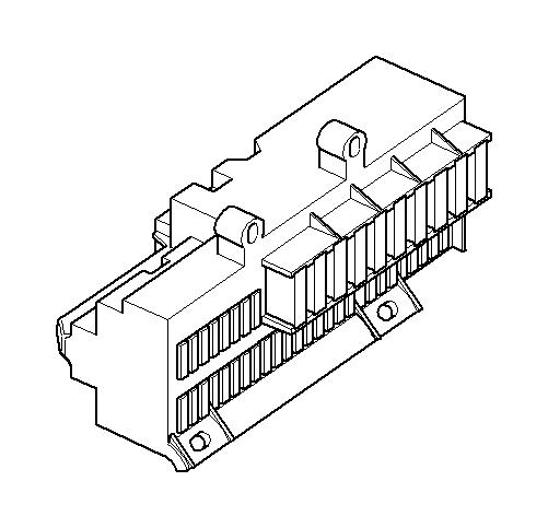 bmw 750li universal socket housing maxi-dfk  5 pol   z-code