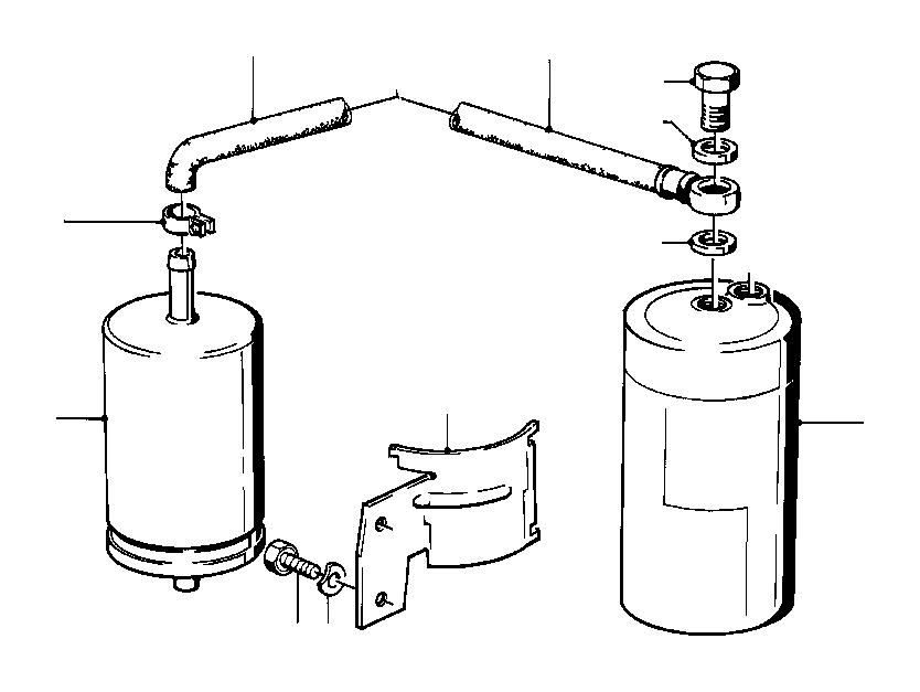 bmw 325i fuel hose  32mm-210mm  system  supply  filter