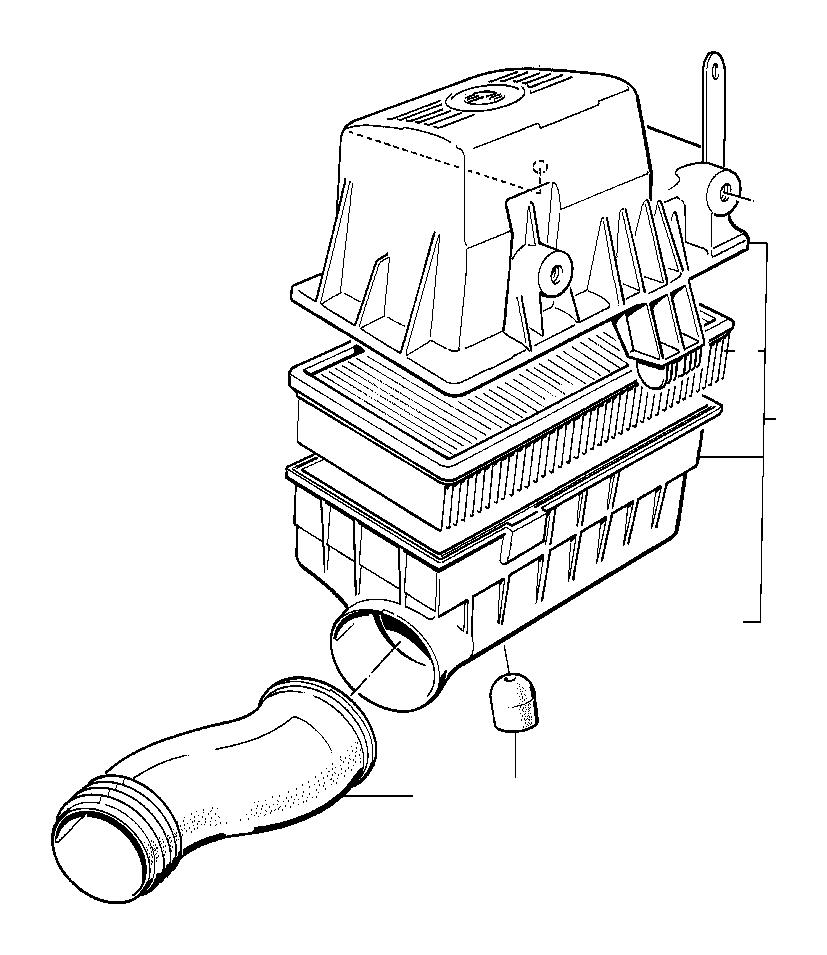 13711713128 Bmw Intake Tube Silencer Fuel Filter