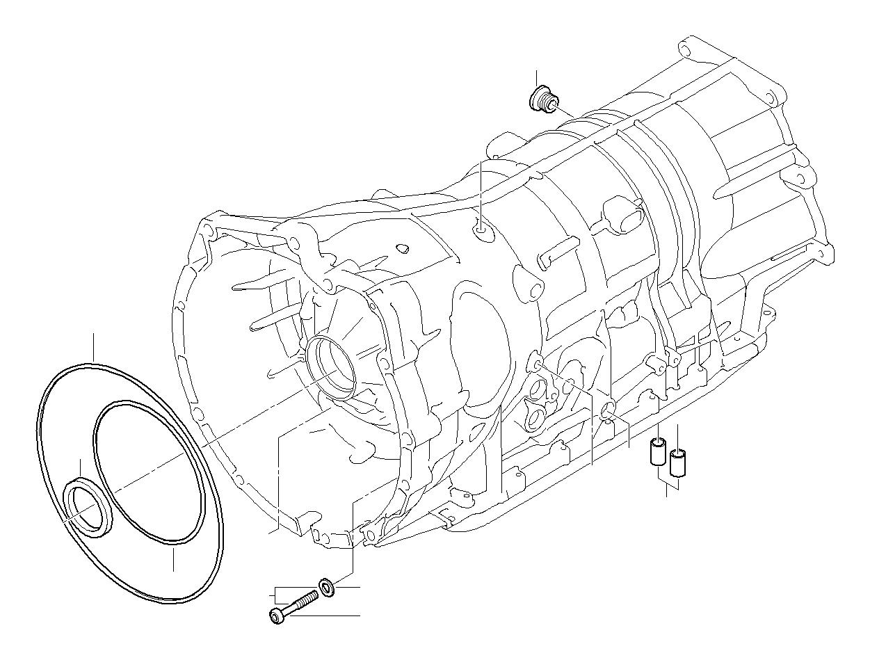 bmw 740i gasket ring  system  lubrication  transmission