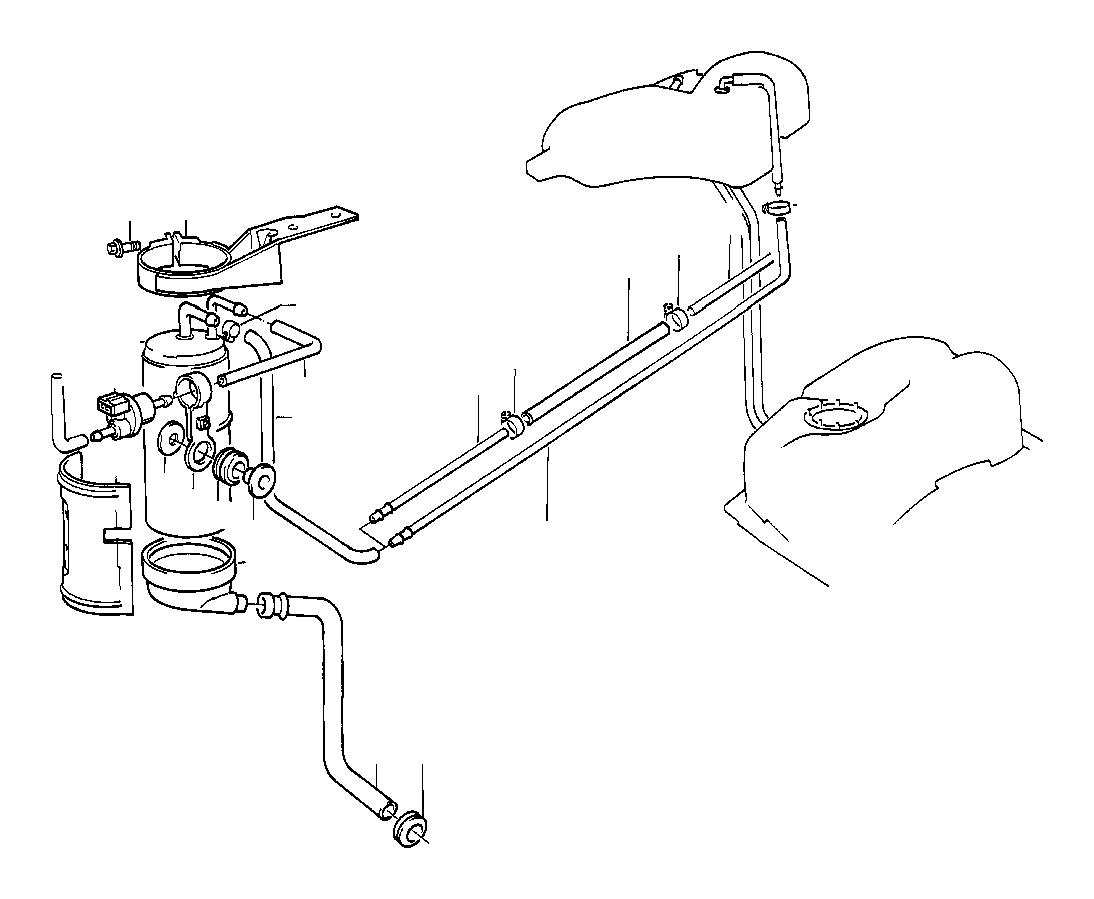 bmw 735i bracket ventilation valve