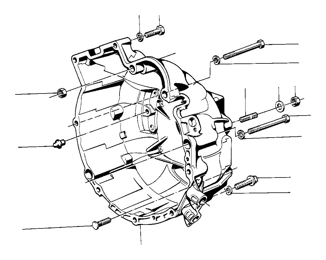 bmw 635csi stud bolt  m12x60  clutch