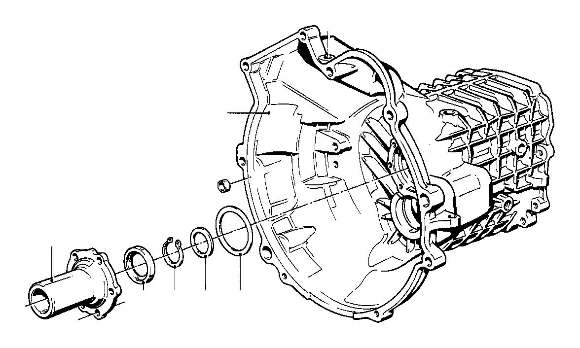 bmw 318i snap ring  30x2  getrag  transmission