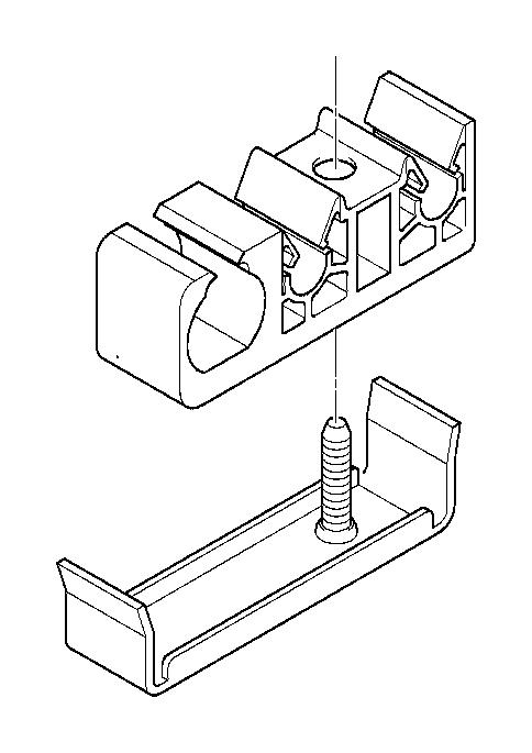 bmw 530i bracket for line holder  fuel