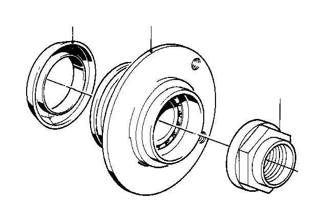 bmw 528e wheel hub  front  suspension