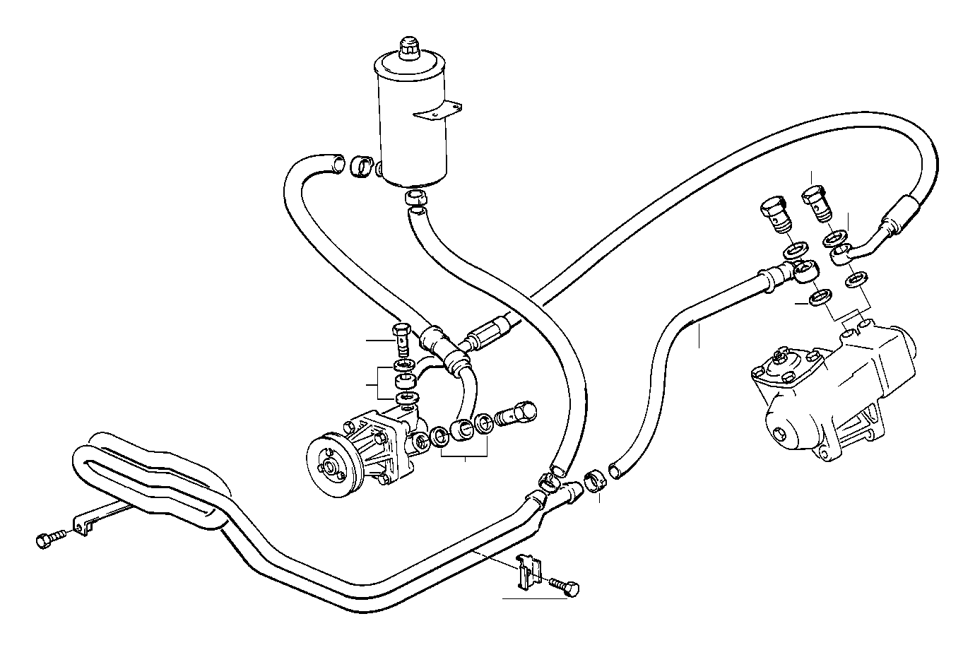 bmw 325i gasket ring  a16x20-cusn  steering  oil  lines