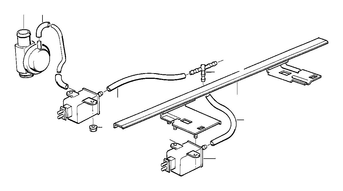 bmw 528e vacuum hose  2x4  regulator