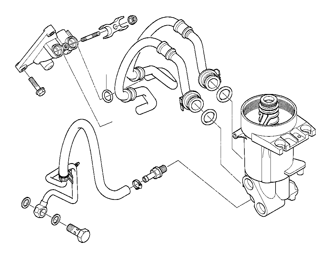2003 Bmw X5 Oil Pipe Outlet  System  Lubrication