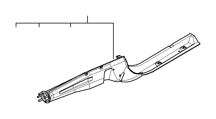 bmw m3 support for right radiator  body  front