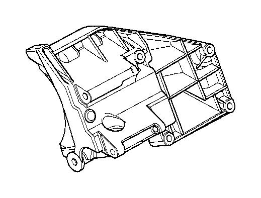 bmw alpina v8 climate compressor supporting bracket
