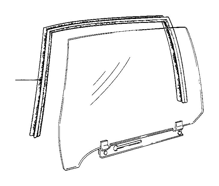 bmw 735i right window guide  trim  rear  door