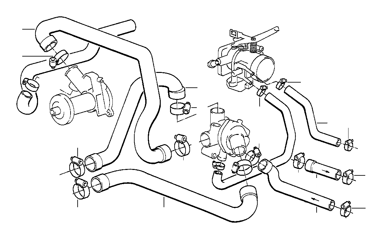 bmw 325ix water hose engine  cooling  hoses 11531279895