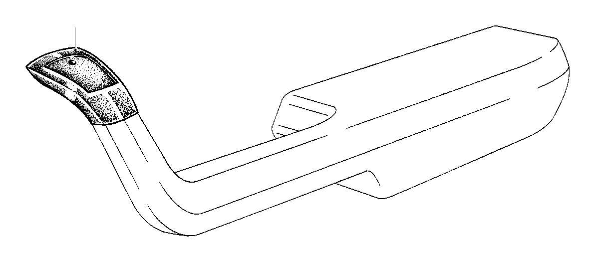 bmw 320i armrest upper part front right  marineblau  trim