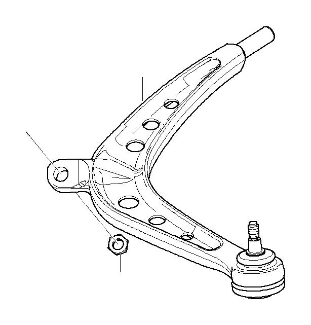 bmw 330xi wishbone  left  suspension