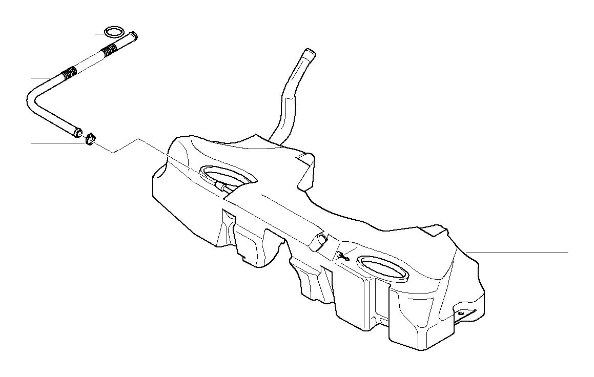 Bmw 540i Vent Hose Fuel Tank 16111182278 Bmw