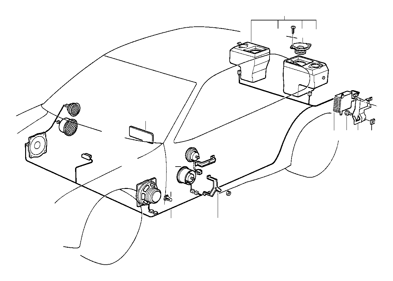bmw 323i audio wiring harness hifi  system  single  components